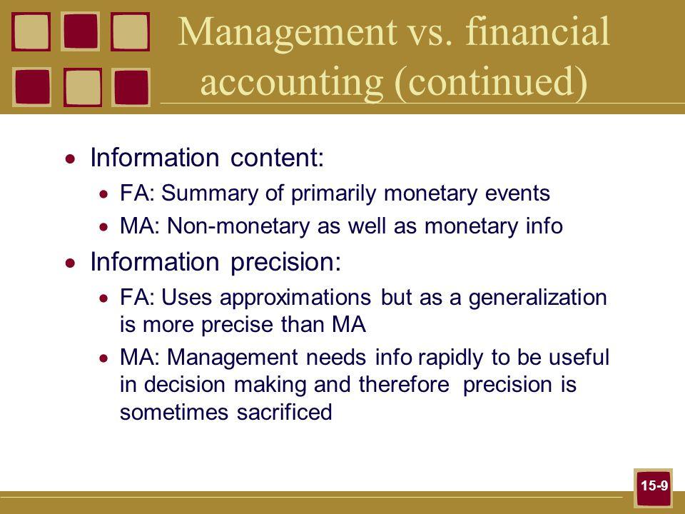 15-9 Management vs.