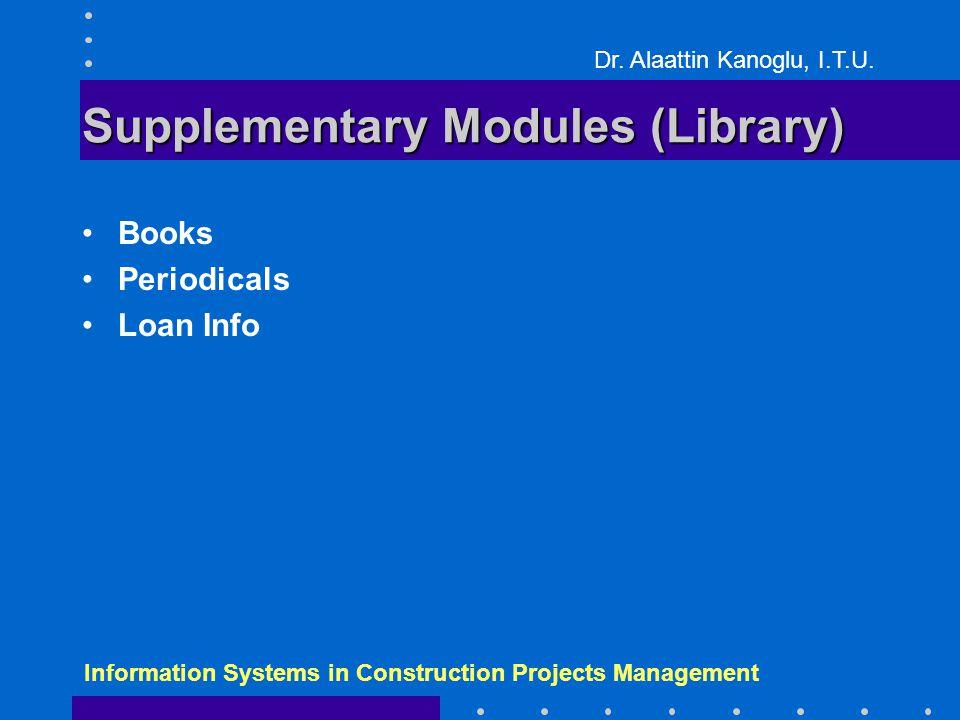Dr. Alaattin Kanoglu, I.T.U.