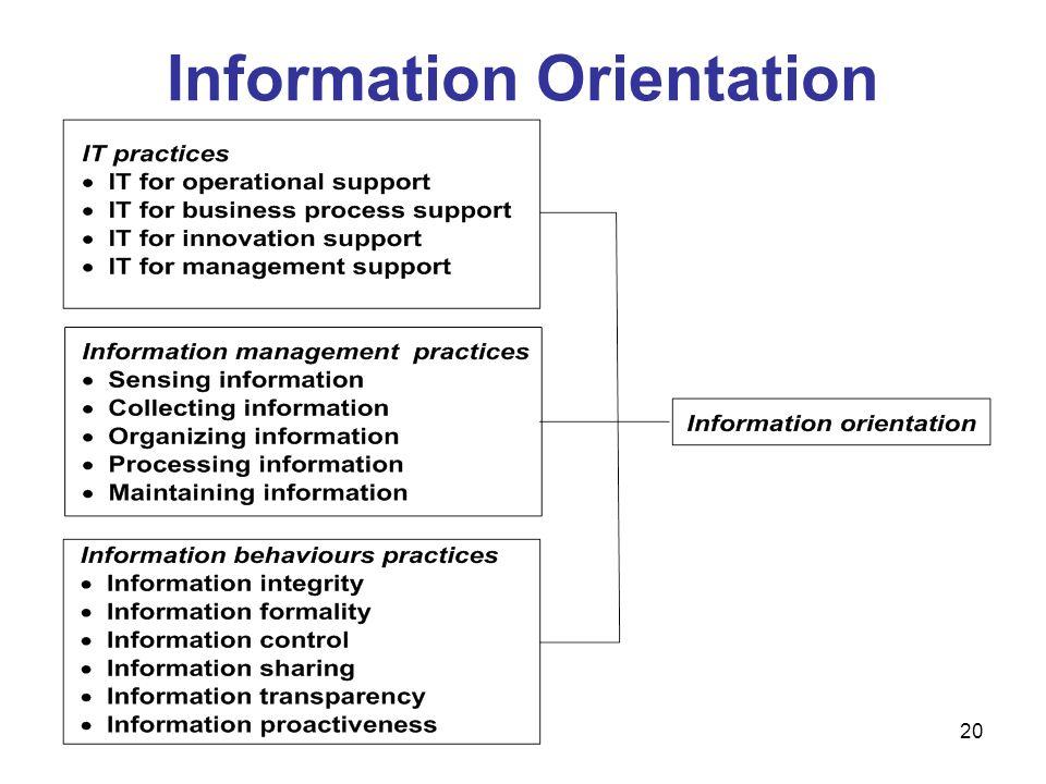 20 Information Orientation