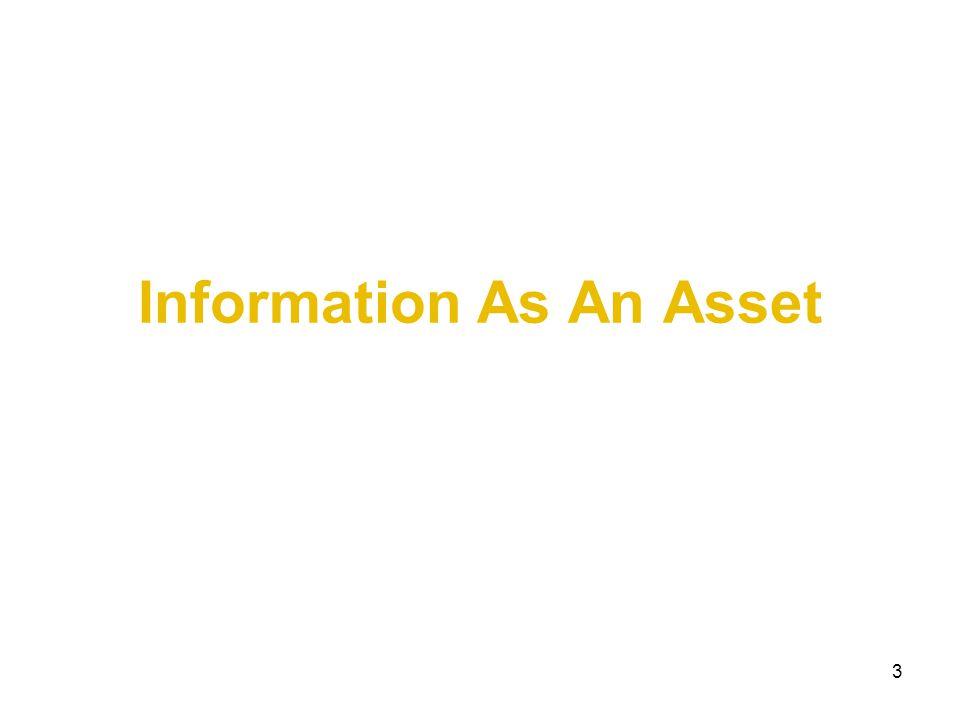 3 Information As An Asset