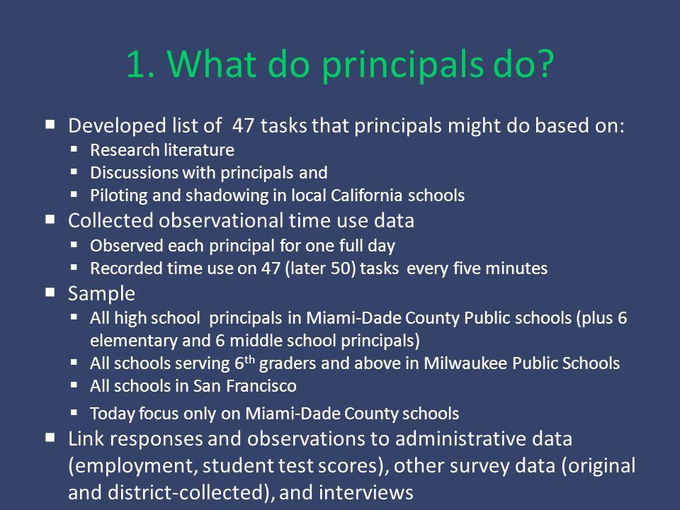 1. What do principals do.