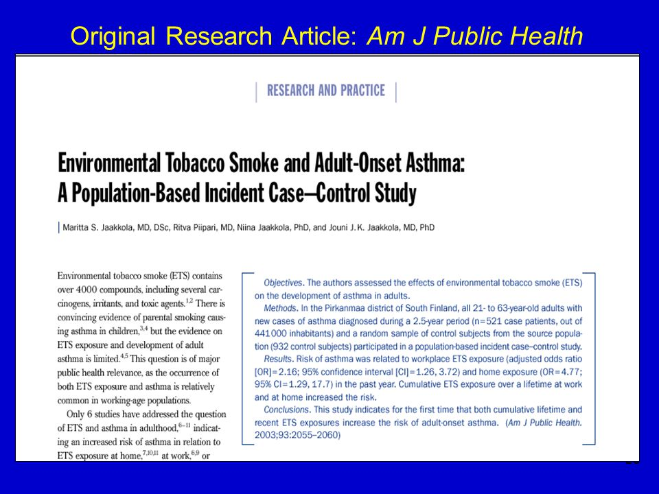 25 Original Research Article: Am J Public Health
