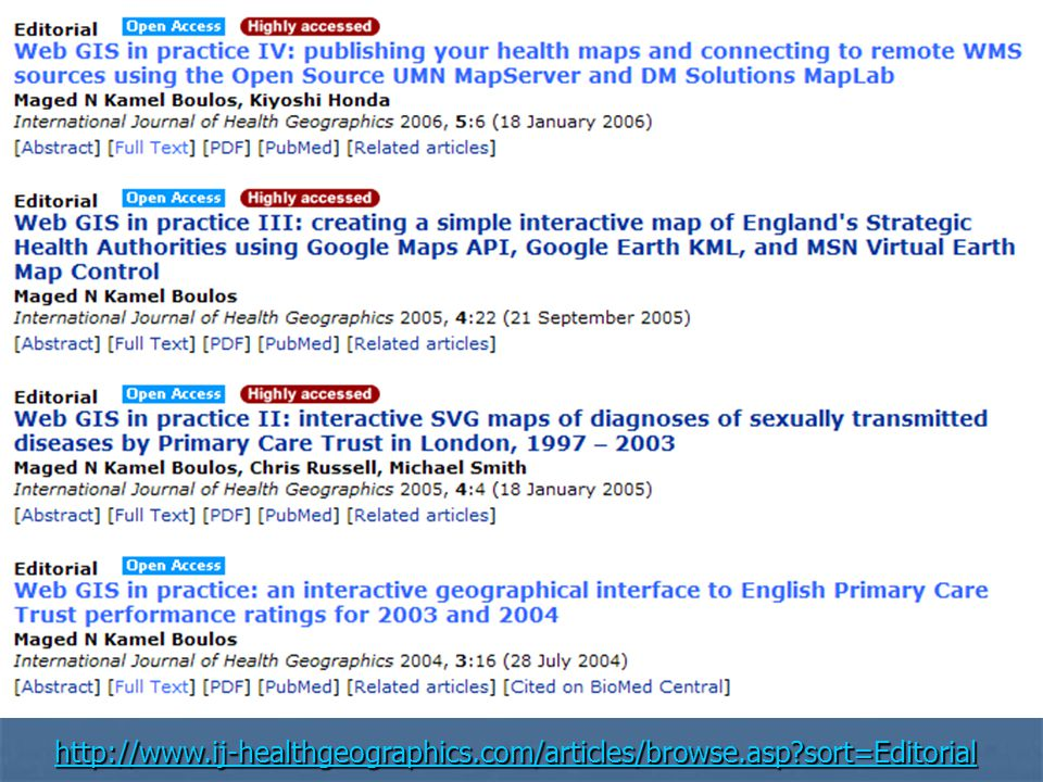 http://www.ij-healthgeographics.com/articles/browse.asp?sort=Editorial http://www.ij-healthgeographics.com/articles/browse.asp?sort=Editorial