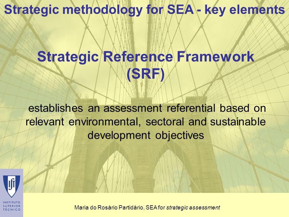 Maria do Rosário Partidário, SEA for strategic assessment II Analysis and assessment 6.
