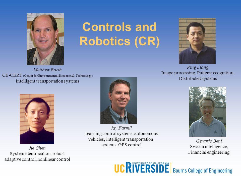 Gerardo Beni Swarm intelligence, Financial engineering Jay Farrell Learning control systems, autonomous vehicles, intelligent transportation systems,