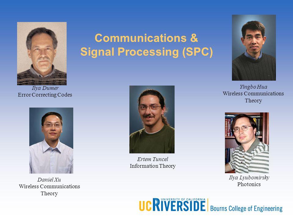 Ilya Dumer Error Correcting Codes Yingbo Hua Wireless Communications Theory Daniel Xu Wireless Communications Theory Ertem Tuncel Information Theory I