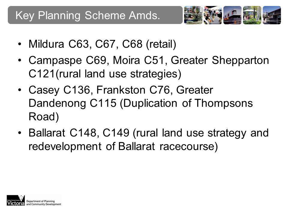Key Planning Scheme Amds.