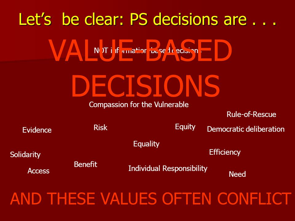 Let's be clear: PS decisions are...