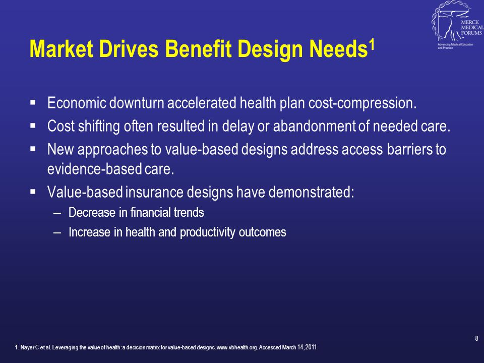 General Concepts of Value-Based Insurance Design 9