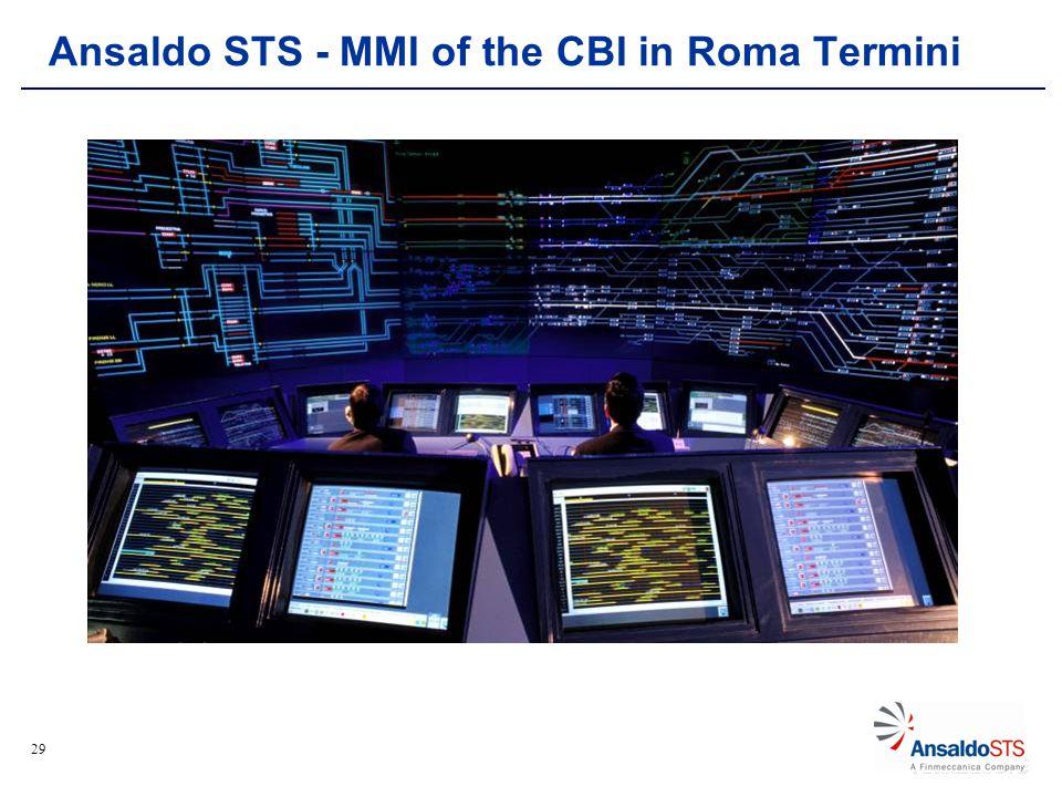 29 Ansaldo STS - MMI of the CBI in Roma Termini