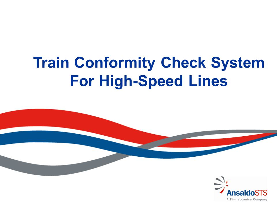 Train Conformity Check System For High-Speed Lines
