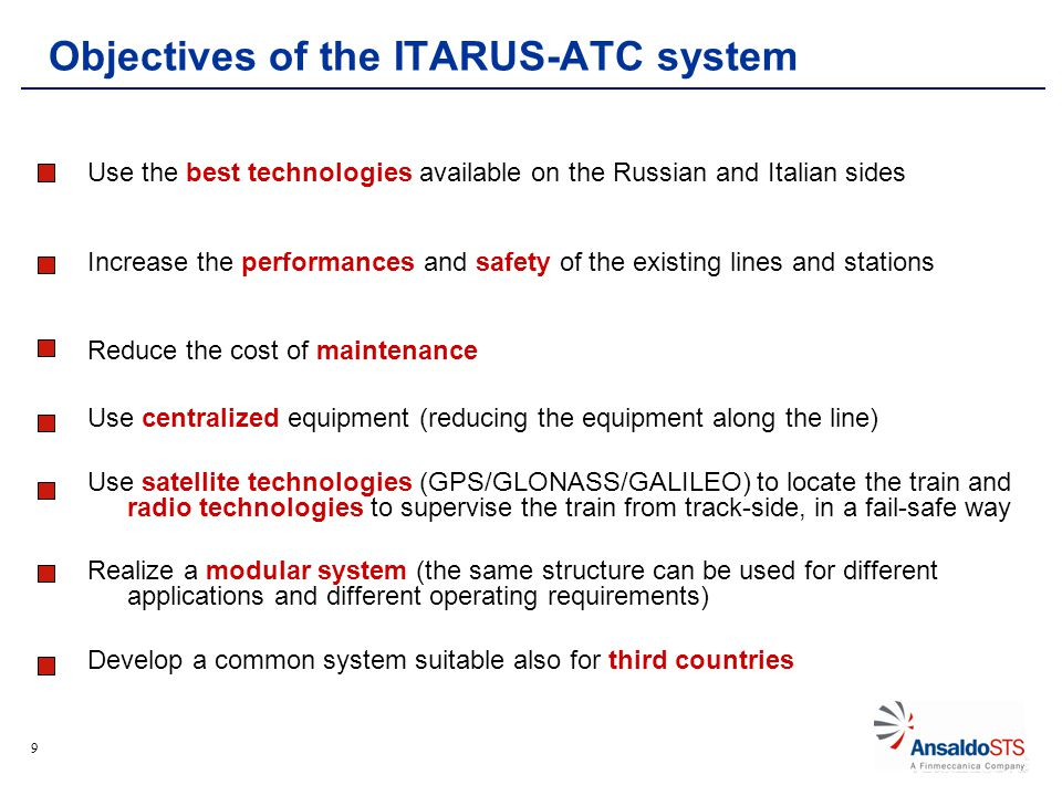 20 Reference architecture based on: SIL4 Localiser on board the train Augmentation network Multi-constellation GNSS (GPS, Glonass + Galileo by 2015) LDS Reference Architecure Performance evaluation Univ.of Roma