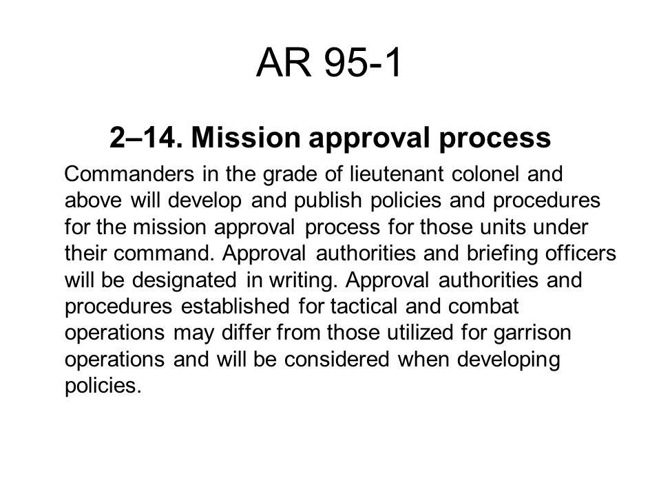 AR 95-1 2–14.