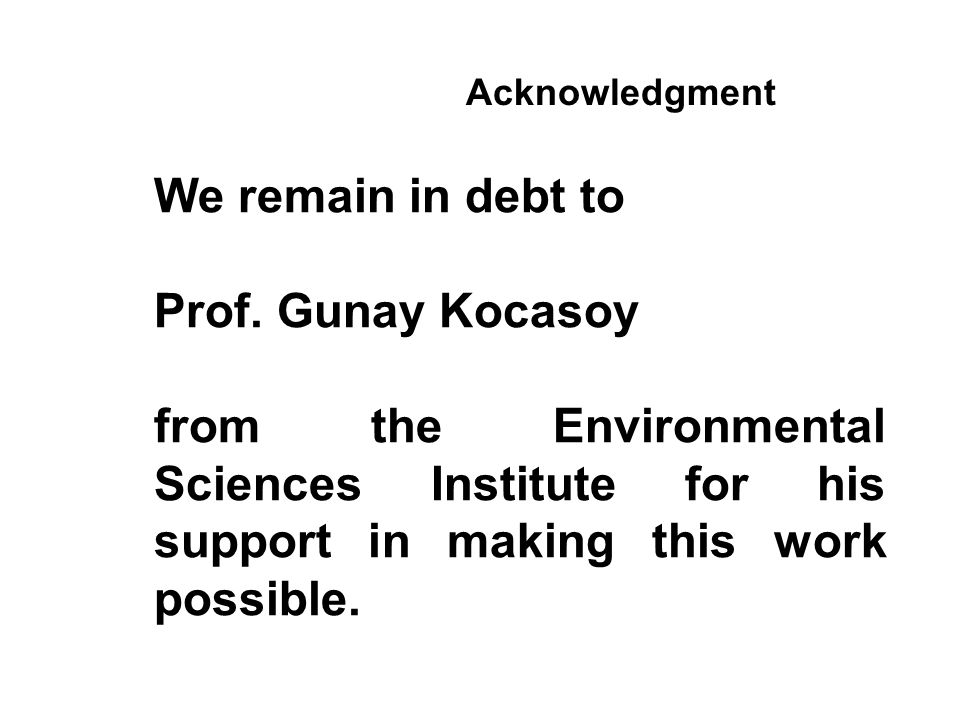 We remain in debt to Prof.