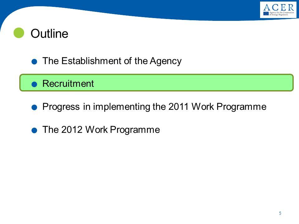 5 Outline. The Establishment of the Agency. Recruitment.