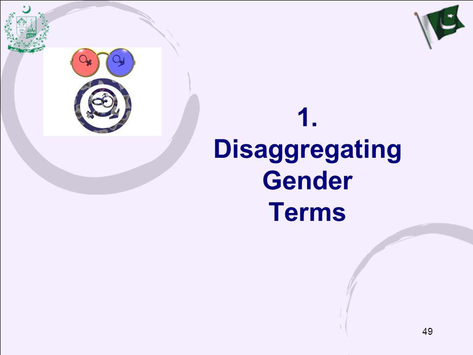 49 1. Disaggregating Gender Terms