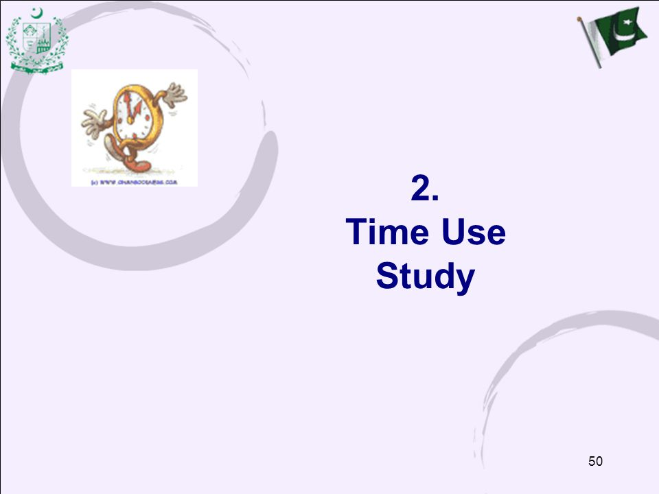 50 2. Time Use Study