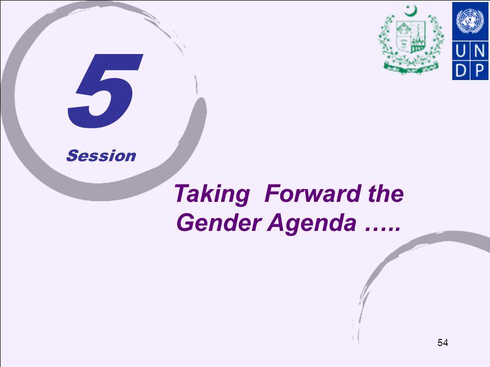 54 5 Taking Forward the Gender Agenda ….. Session