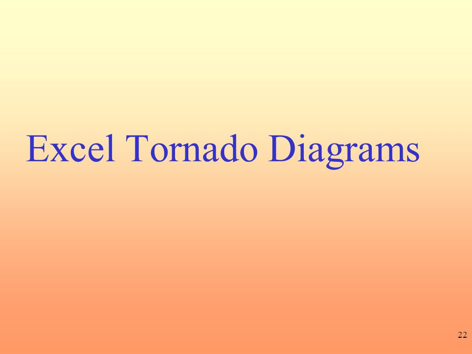 22 Excel Tornado Diagrams