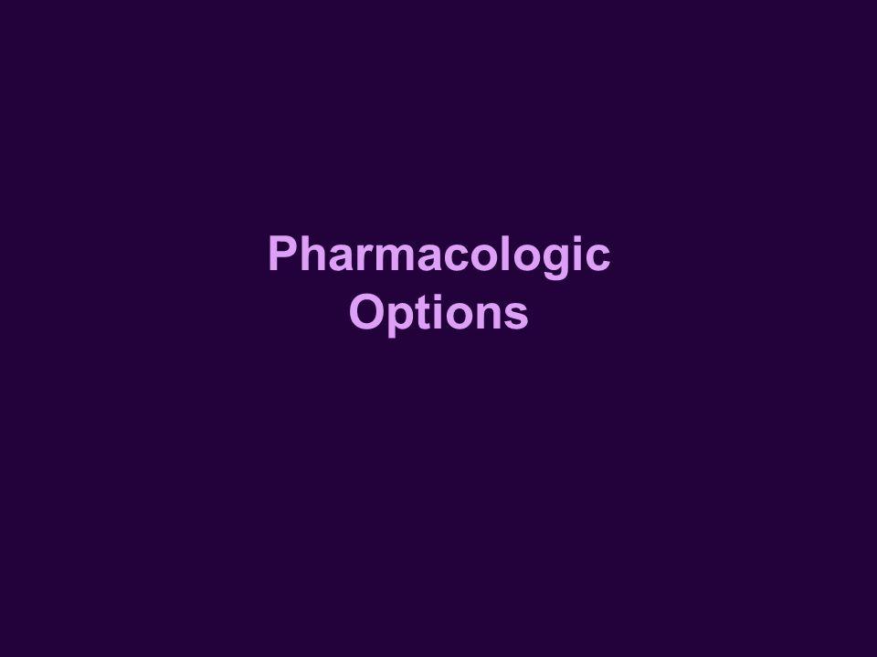 Pharmacologic Options