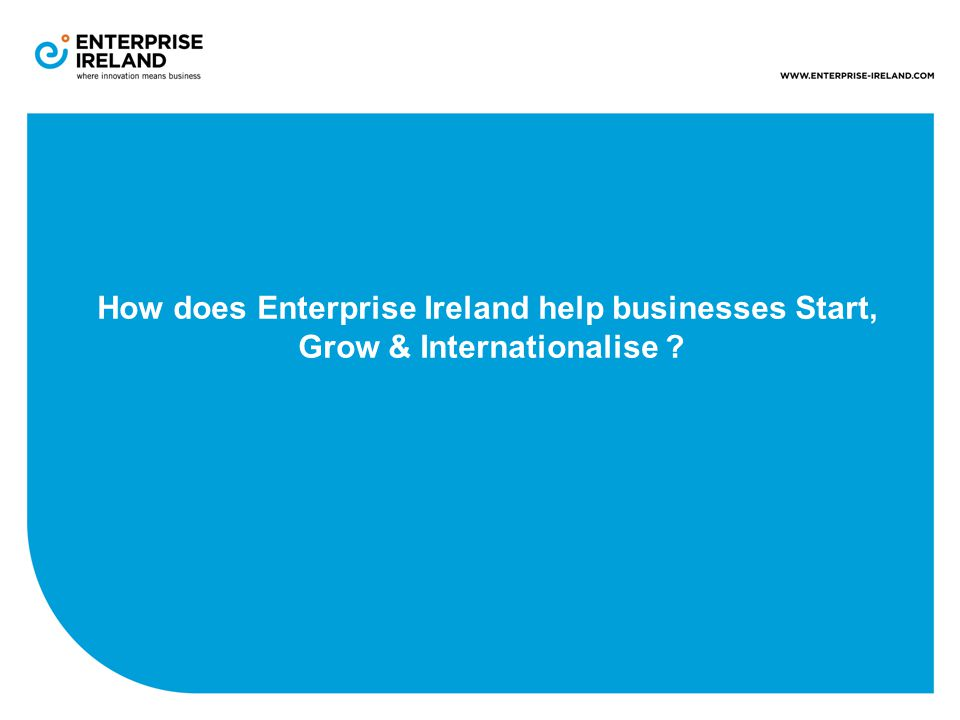How does Enterprise Ireland help businesses Start, Grow & Internationalise