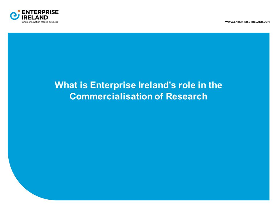 What is Enterprise Ireland's role in the Commercialisation of Research