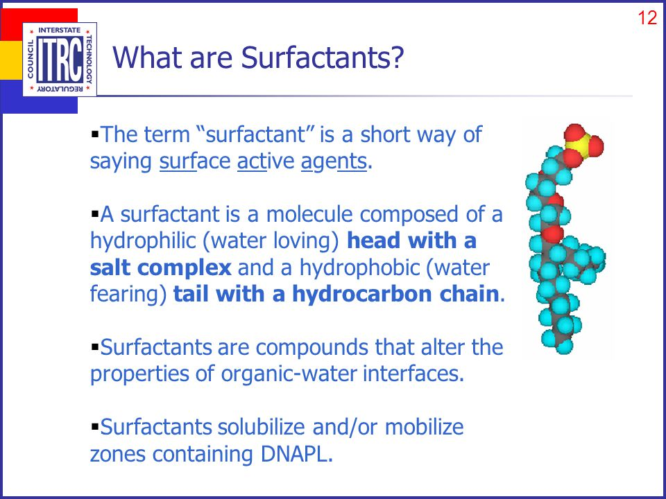 12 What are Surfactants.