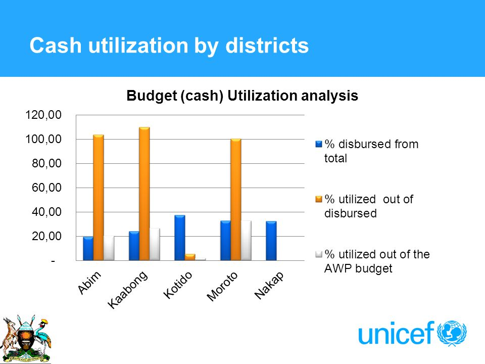 Cash utilization by districts