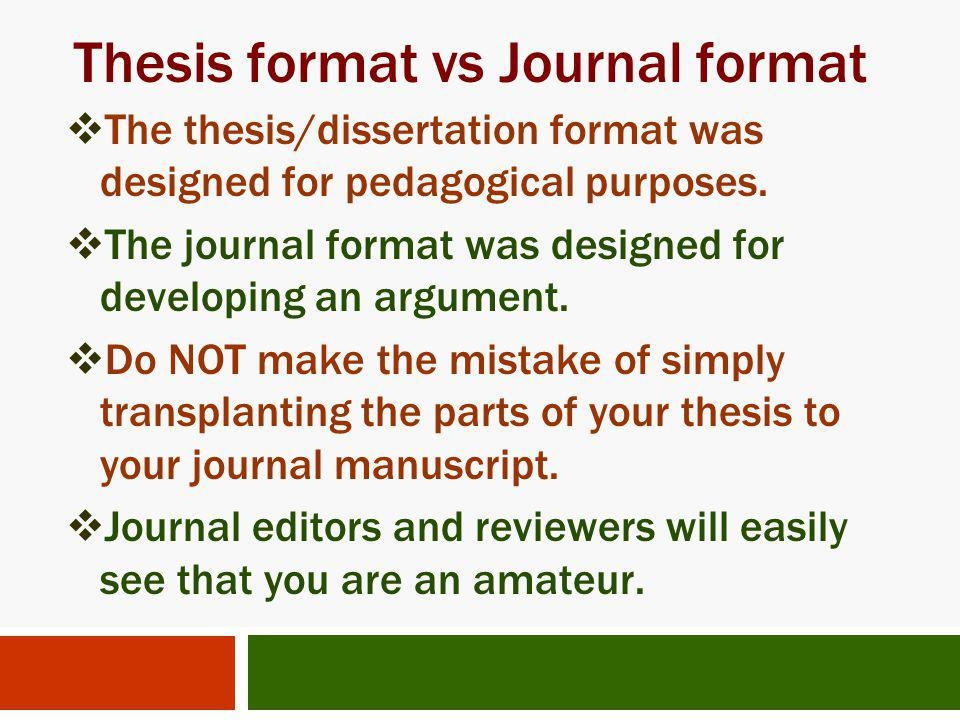 different parts of thesis writing