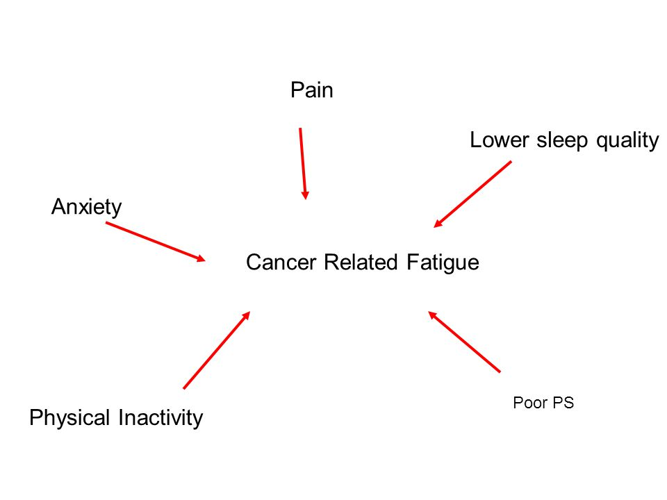 Anxiety Pain Lower sleep quality Physical Inactivity Poor PS Cancer Related Fatigue