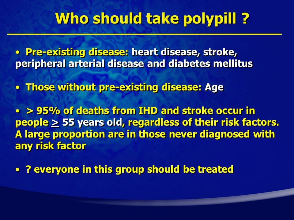Who should take polypill .