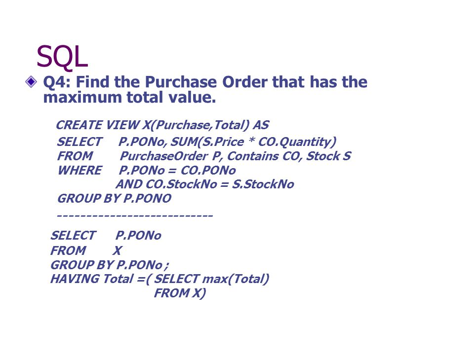 Q4: Find the Purchase Order that has the maximum total value.