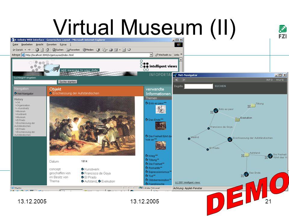 13.12.2005 21 Virtual Museum (II)