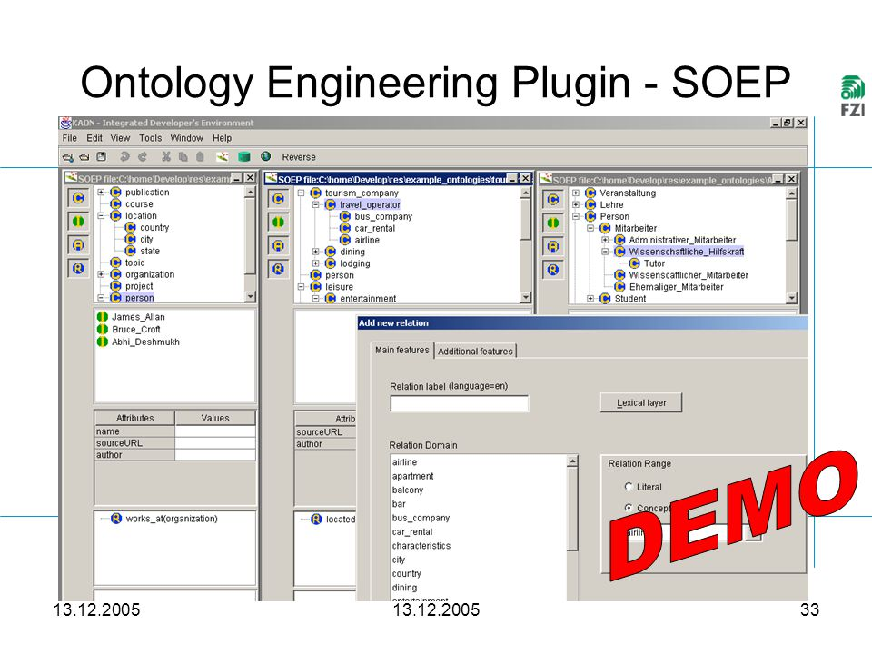 13.12.2005 33 Ontology Engineering Plugin - SOEP …