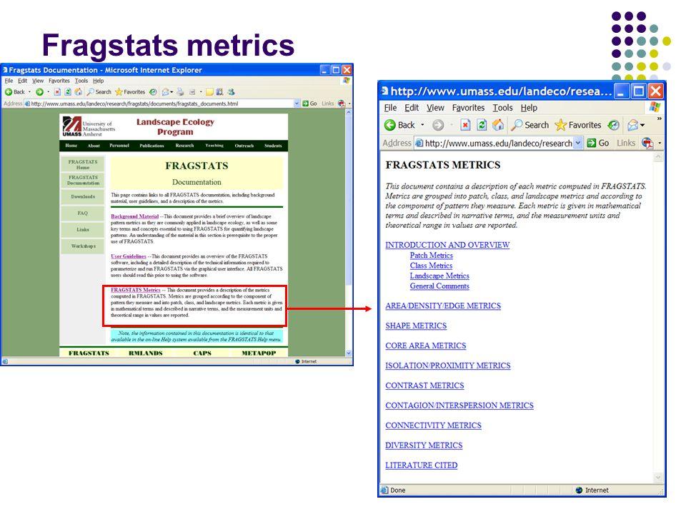 24 Fragstats metrics