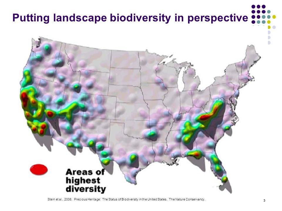 3 Putting landscape biodiversity in perspective Stein et al., 2006.