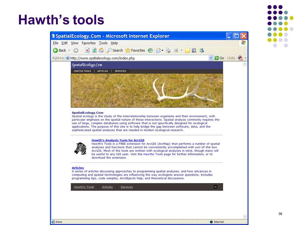 36 Hawth's tools