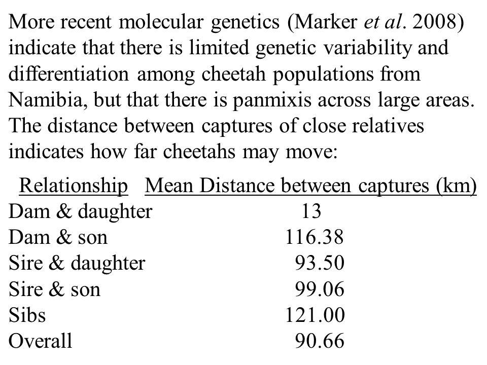 More recent molecular genetics (Marker et al.