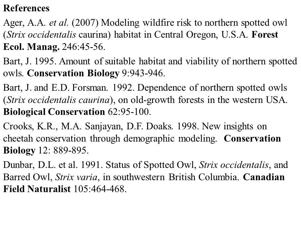 References Ager, A.A. et al.