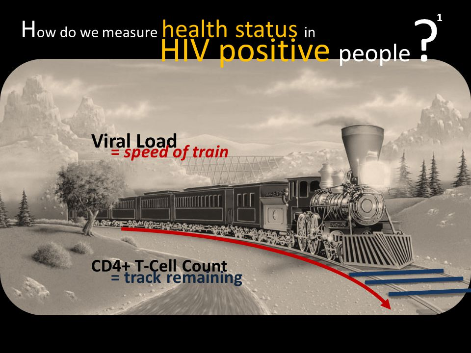 Viral Load CD4+ T-Cell Count H ow do we measure health status in HIV positive people .