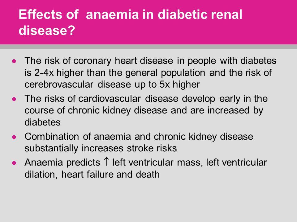 Effects of anaemia in diabetic renal disease.