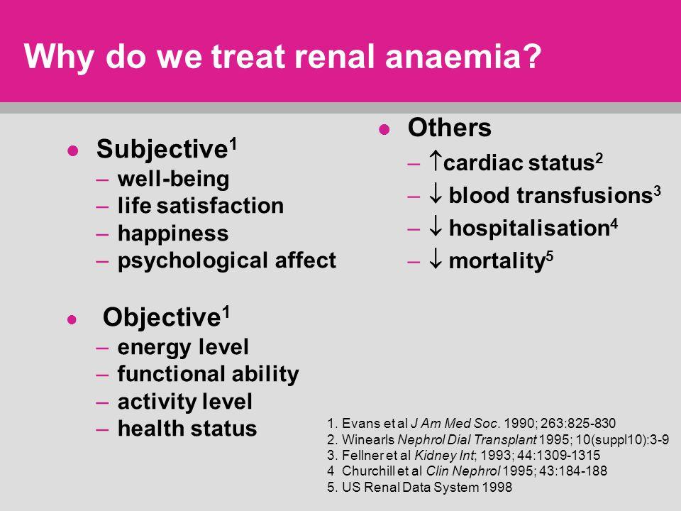 Why do we treat renal anaemia.