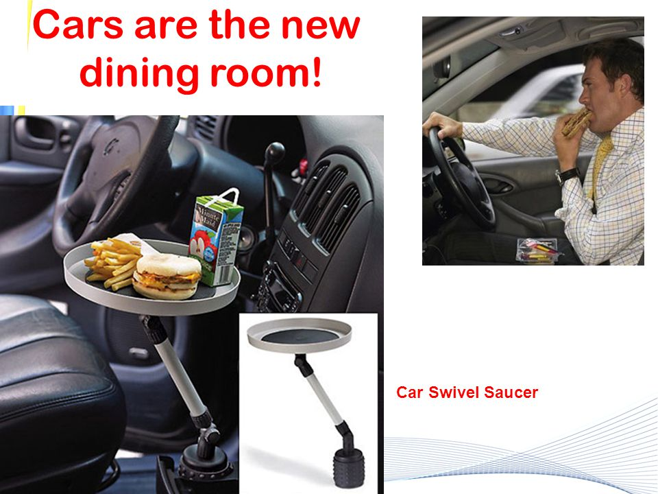 Cars are the new dining room! Car Swivel Saucer