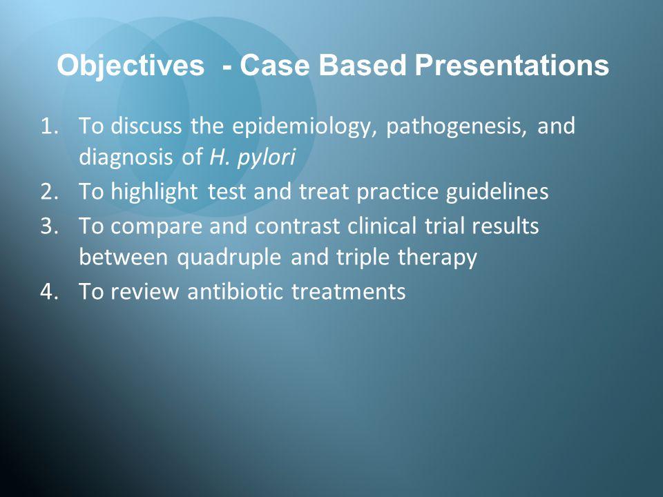 Methods –open label, international multicenter –dyspepsia +/- PUD, testing positive for H.