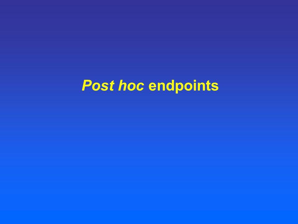 Post hoc endpoints