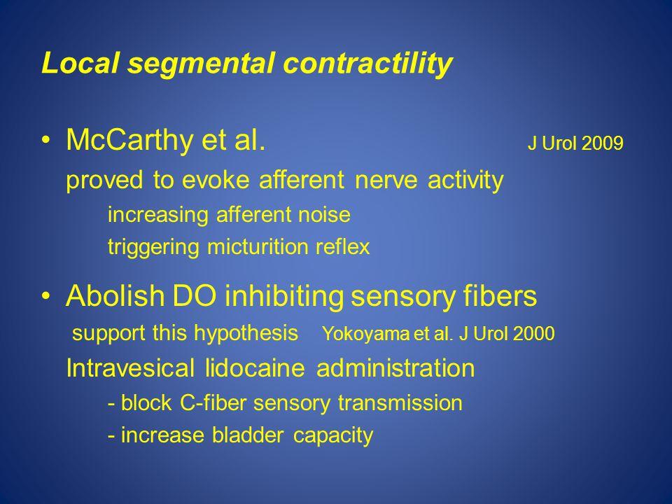Local segmental contractility McCarthy et al.