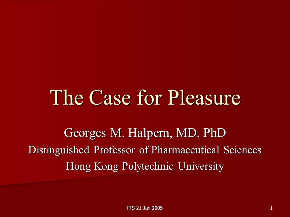 FFS 21 Jan 20052 References Petr Skrabanek.The Death of Humane Medicine.