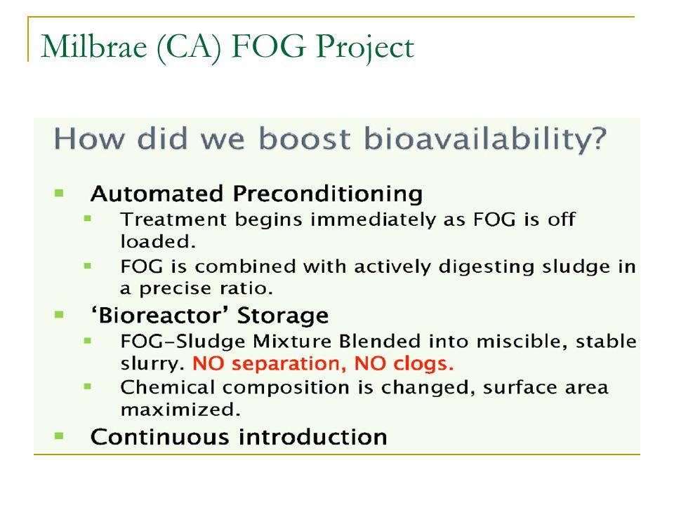 Milbrae (CA) FOG Project