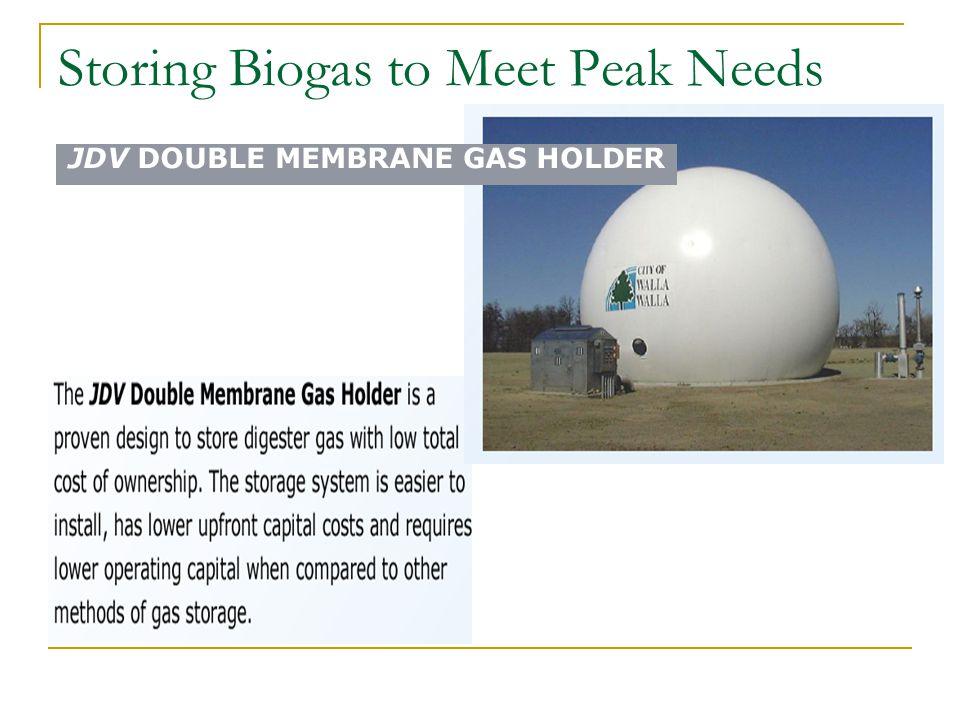 Storing Biogas to Meet Peak Needs