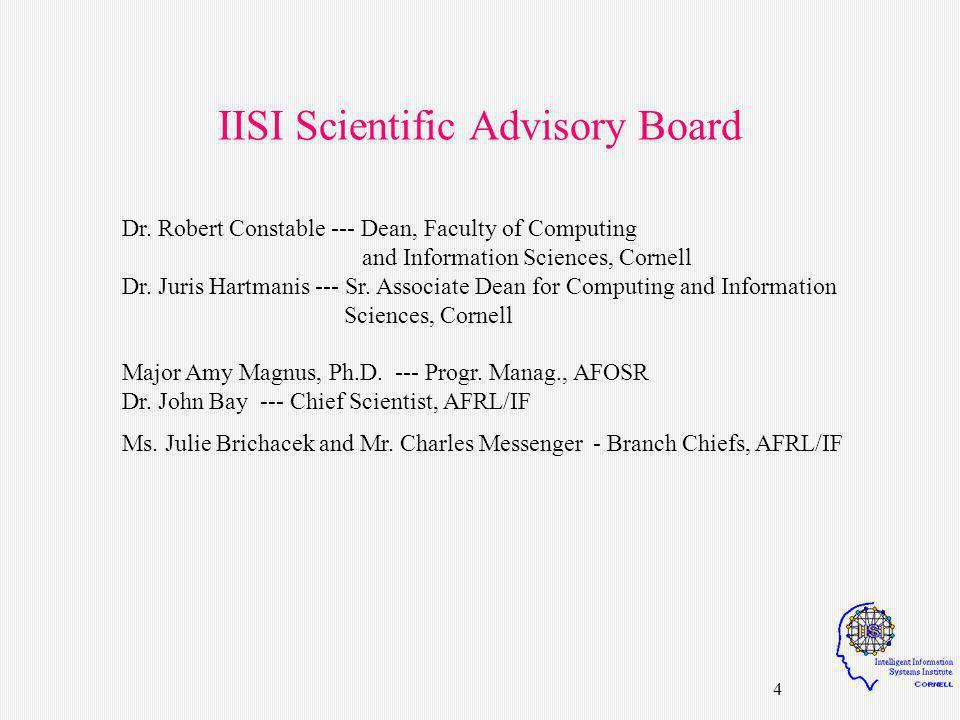 65 10:00 - 10:05 Welcome Prof.Juris Hartmanis, Sr.